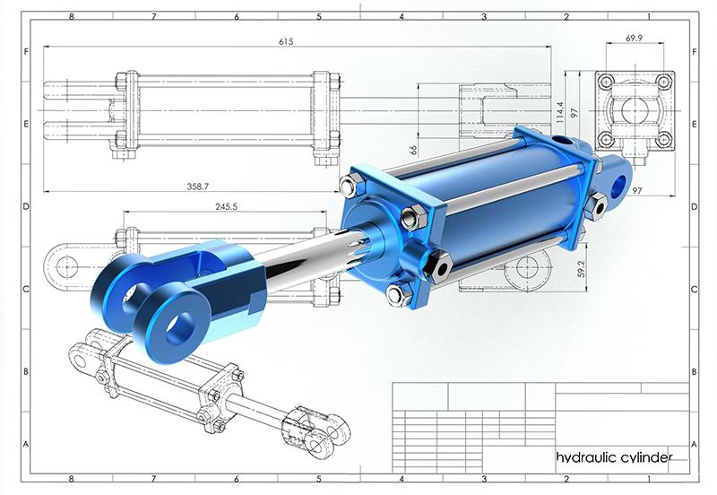 digital design of a hydraulic cylinder