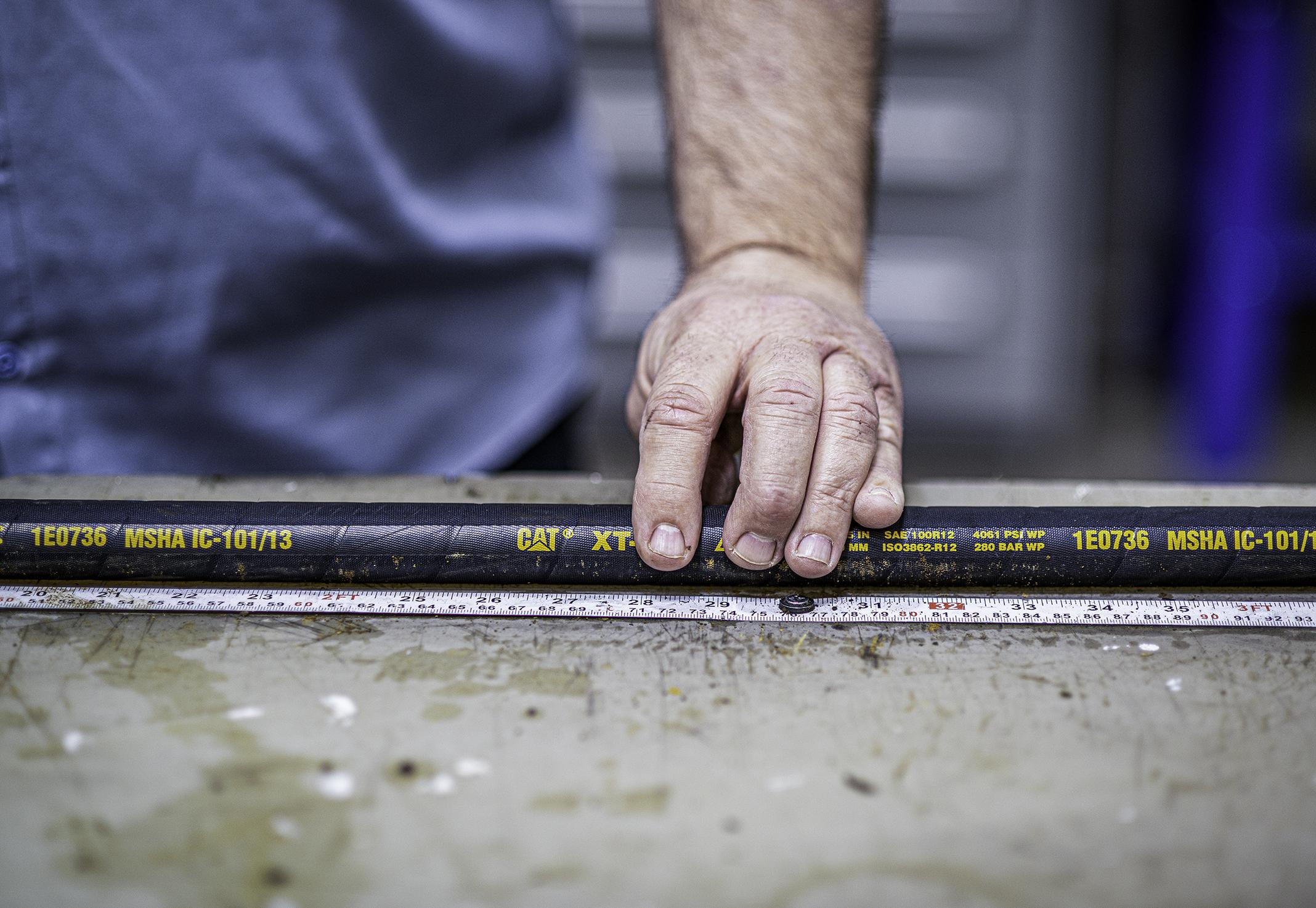 measuring a hose