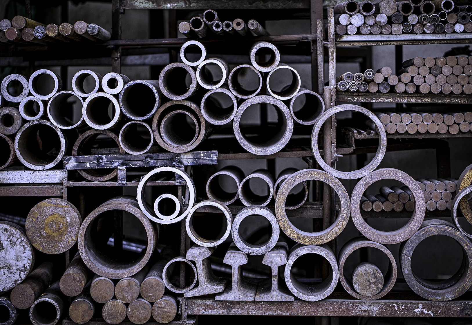 pipe that is raw material in stock at complete