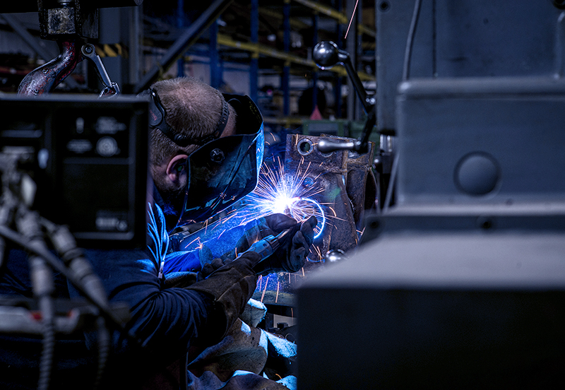 someone welding showing the welding sparks